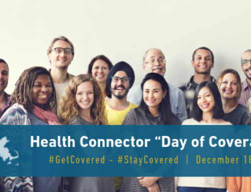 "Join the Massachusetts Health Connector for a ""Day of Coverage"" December 18, 2018"