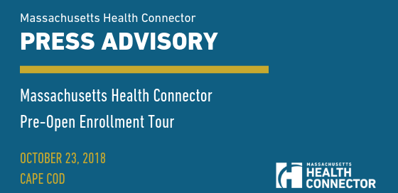 Massachusetts Health Connector Press Advisory Banner Image