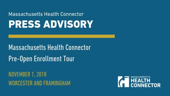Massachusetts Health Connector Press Advisory Banner Image
