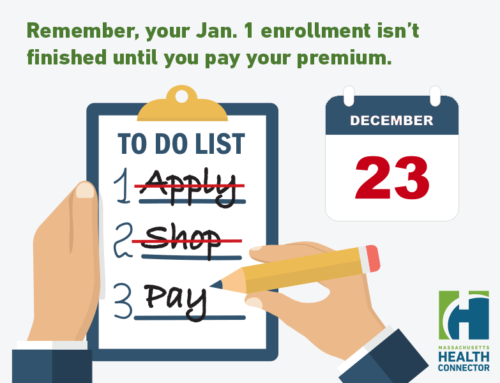 Finish your enrollment by December 23rd for January 1, 2018 coverage