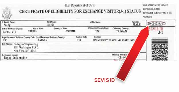 Certificate of Eligibility for Exchange Visitor J-1 Status DS2019