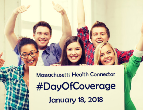 "Join the Massachusetts Health Connector for a ""Day of Coverage"" January 18, 2018"
