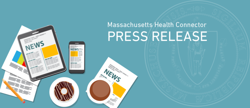 Health Connector Press Release cover image with Massachusetts state seal
